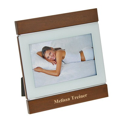Lovely Wood Frame with Metal Accent
