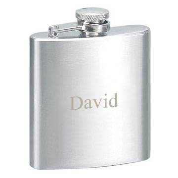 Premium Spirits Brushed Stainless Steel Flask