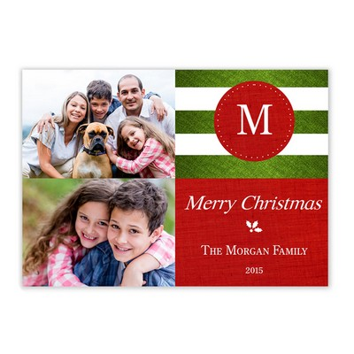 Holiday greeting cards memorable gifts holiday greeting cards family initial photo christmas card m4hsunfo