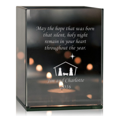 Family Nativity Tea light Candle Holder