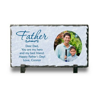 Personalized Photo Slate Keepsake Plaque for Dad