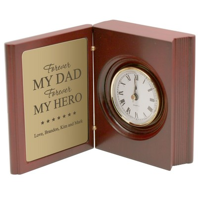 Personalized Forever My Hero Book Clock for Dad