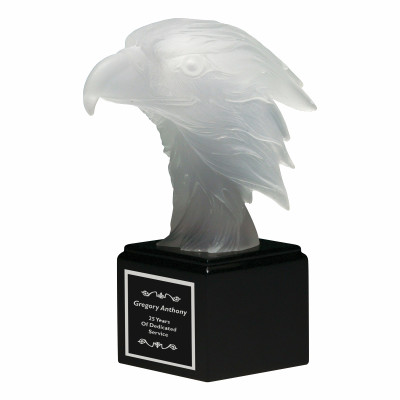 Frosted Eagle Figure Resin Award