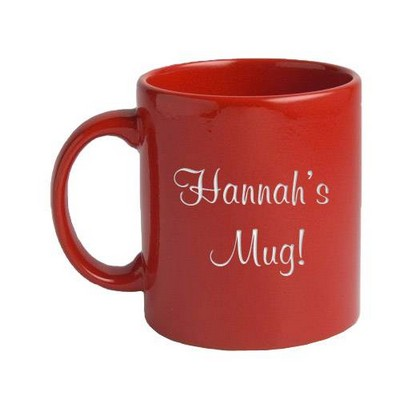Red Ceramic Personalized Mug