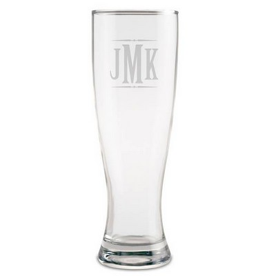 Monogrammed Beer Glass