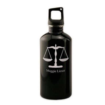 Personalized Black Water Bottle for Lawyers