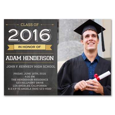 Graduation Class of Custom Announcement Card