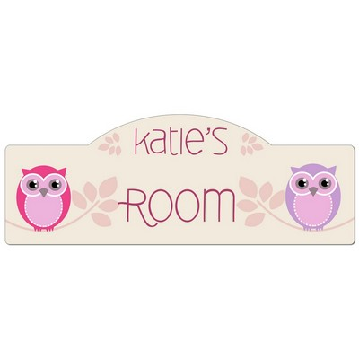 Girls Room Personalized Owl Door Sign