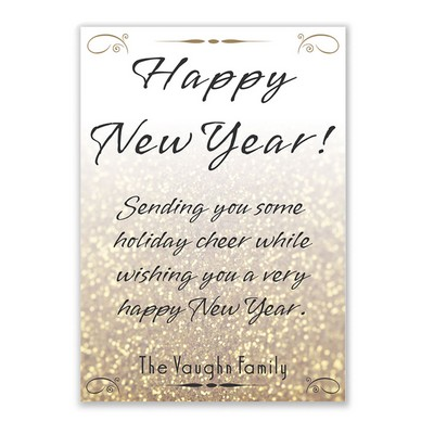 Golden New Year Holiday Card