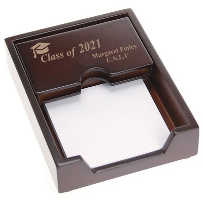 Graduating Class Rosewood Desk Business Card Holder