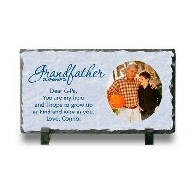 Personalized Photo Slate Keepsake Plaque for Grandpa
