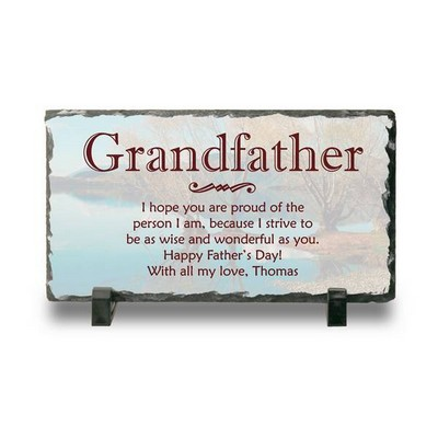 Personalized Slate Desk Plaque for Grandpa