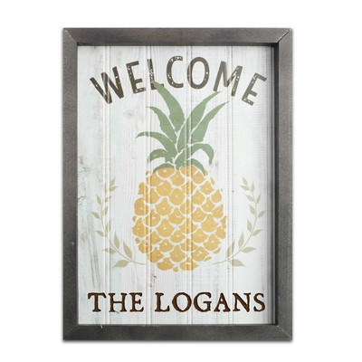 Gray Framed Personalized Beadboard Sign