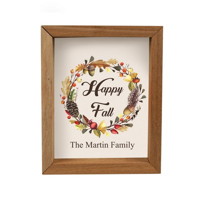 Happy Fall Personalized Framed Shadow Box
