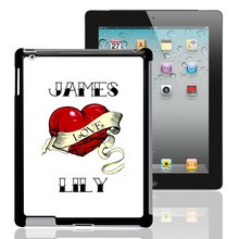 Heart Tattoo Personalized iPad Case