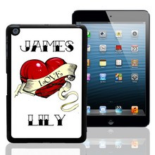 Heart Tattoo Personalized iPad Mini Case