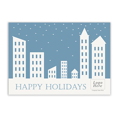 Holiday Building Corporate Holiday Card