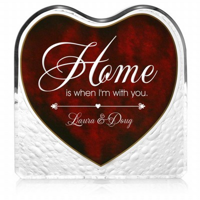 Home With You Red Heart Personalized Keepsake