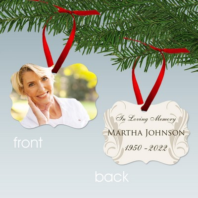 In Loving Memory Personalized Memorial Photo Ornament