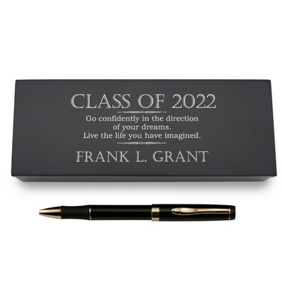 Inspirational Graduation Pen in Personalized Wooden Case