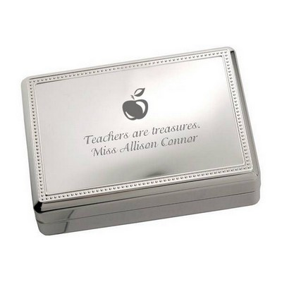 Silver Apple Jewelry Box