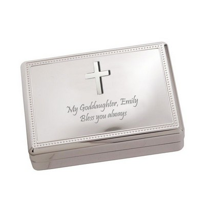 Silver Cross Jewelry Box