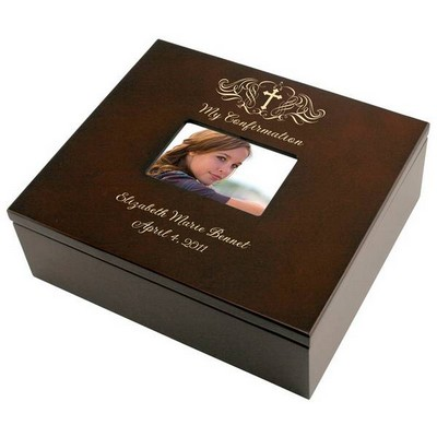 Holy Cross Confirmation Personalized Keepsake Box with Frame