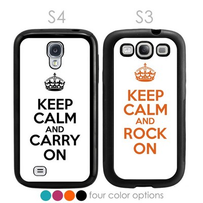 Keep Calm and Carry On Personalized Galaxy S3-S4 Case