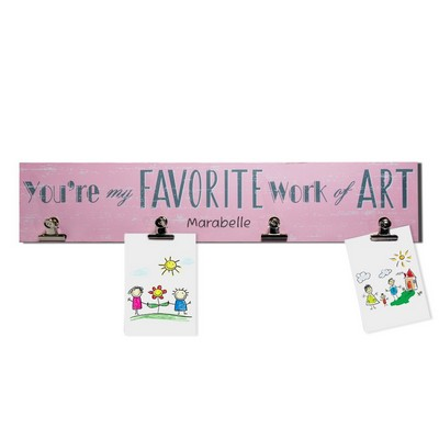 Kids Favorite Art Personalized Pink Wall Display For Girls