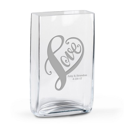LOVE Personalized Glass Vase