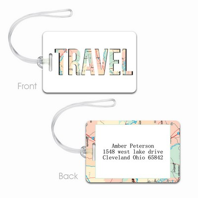 Personalized Travel Map Luggage Tag