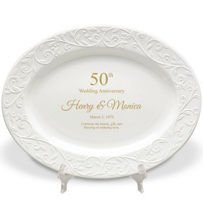 Lenox 50th Wedding Anniversary Personalized Oval Platter