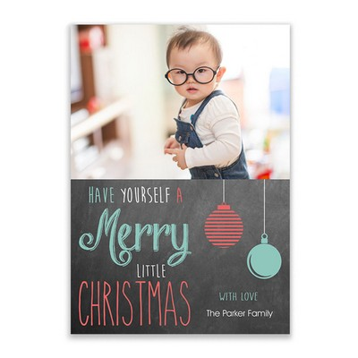 Little Christmas Family Photo Holiday Card