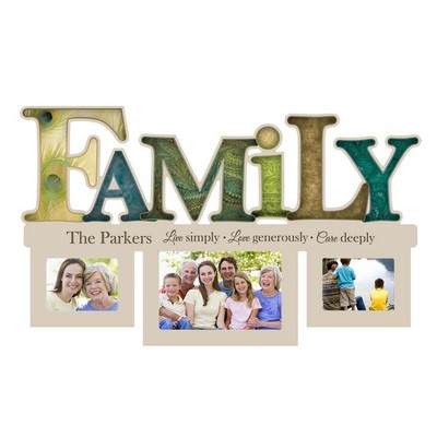 Live Love Care Family Photo Frame Wall Collage