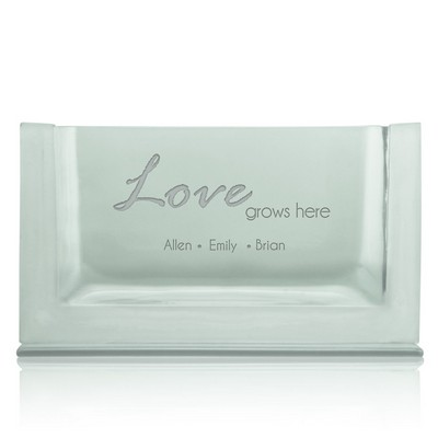 Love Grows Personalized Vase