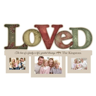 Loved 3 Picture Collage Personalized Wall Frame
