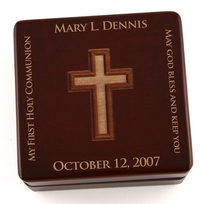 Contemporary Wooden Rosary Box