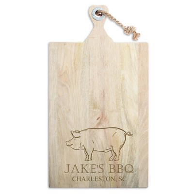 Mango Wood Personalized Pork Cutting Board
