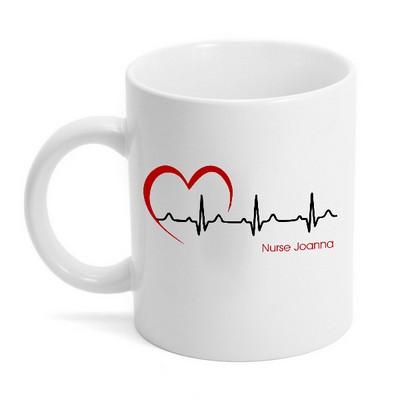 Medical EKG Monitor Ceramic Coffee Mug