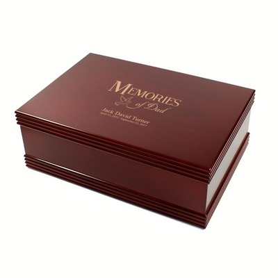 Memories of Dad Rosewood Memorial Keepsake Box