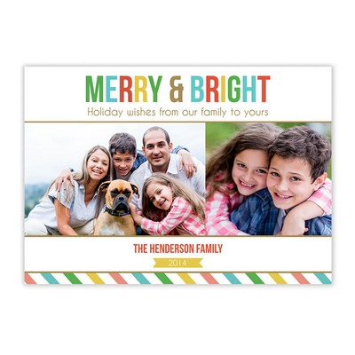 Merry and Bright Family Photo Holiday Card