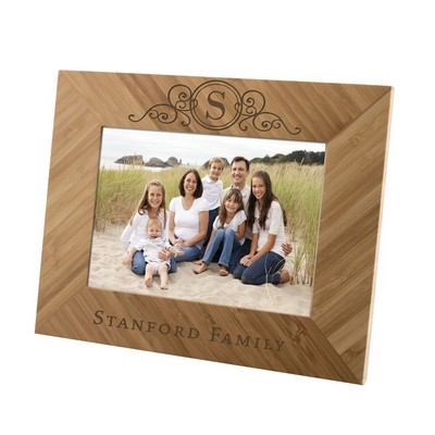 Monogramed Family Bamboo 5x7 Picture Frame