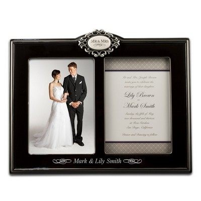 Mr and Mrs Double 5x7 Photo Frame