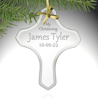 My Christening Personalized Cross Ornament