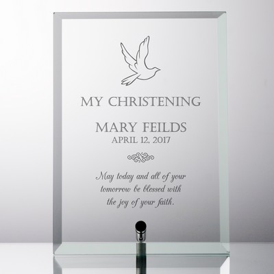 My Christening Personalized Glass Plaque