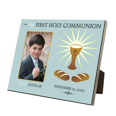 My First Holy Communion Personalized 4x6 Picture Frame for Boys