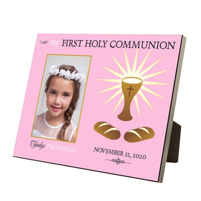 My First Holy Communion Personalized 4x6 Picture Frame for Girls