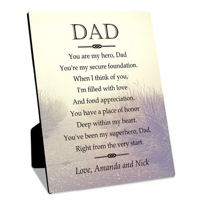 Personalized gifts for dad my hero personalized 8x10 plaque with easel for dad spiritdancerdesigns Image collections