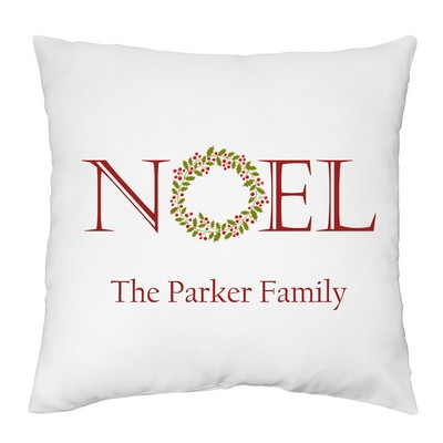 Noel Personalized Family Decorative Pillow Case