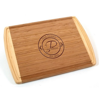 Our Family Monogrammed Bamboo Cutting Board